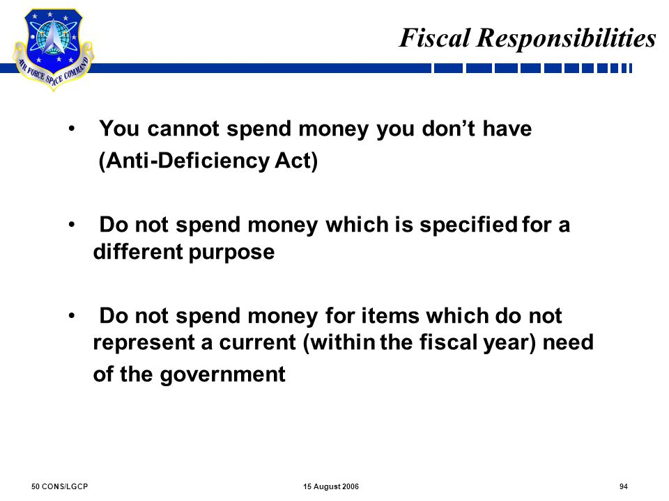 Fiscal Responsibilities