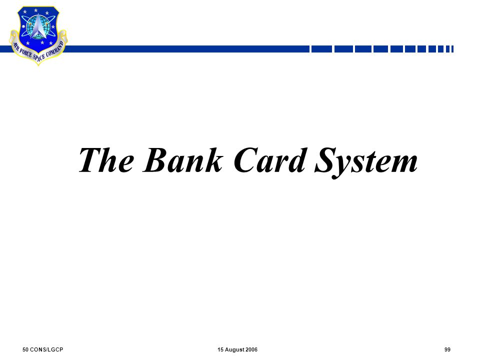 The Bank Card System