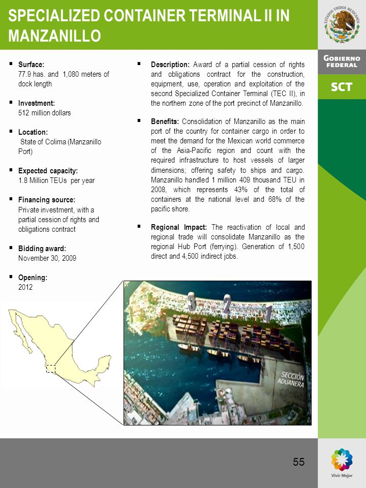 SPECIALIZED CONTAINER TERMINAL II IN MANZANILLO