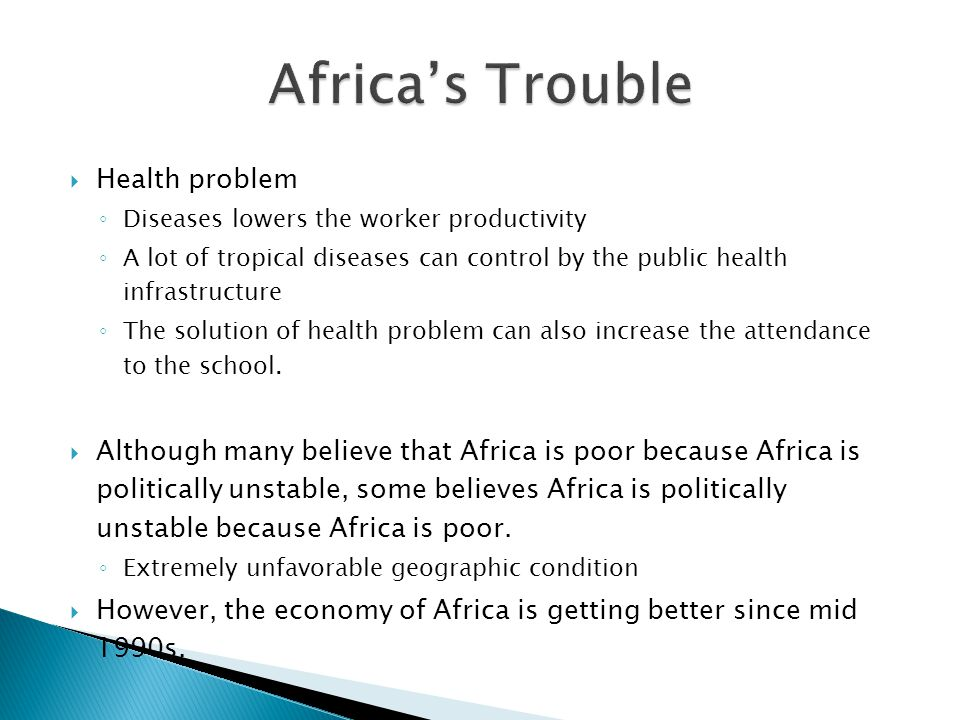 Africa's Trouble Health problem