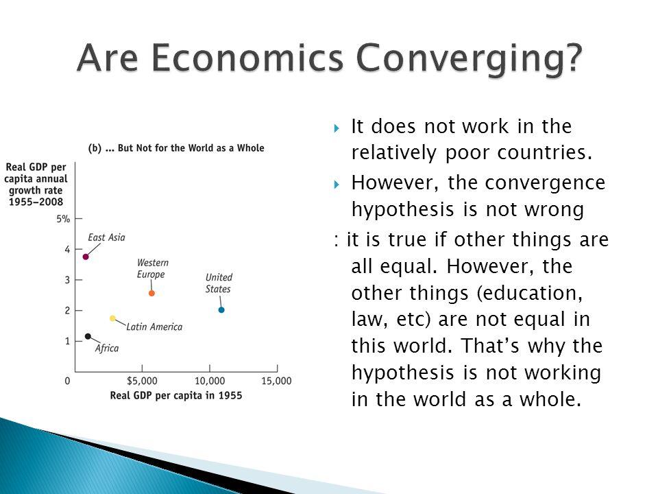 Are Economics Converging
