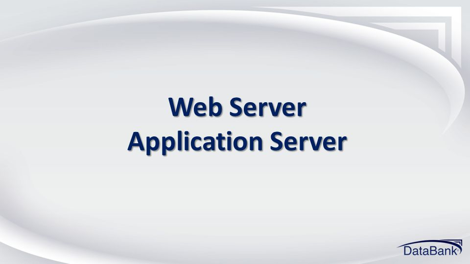 Web Server Application Server