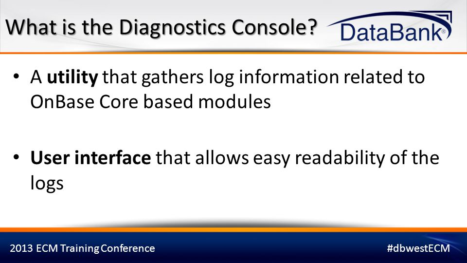 What is the Diagnostics Console