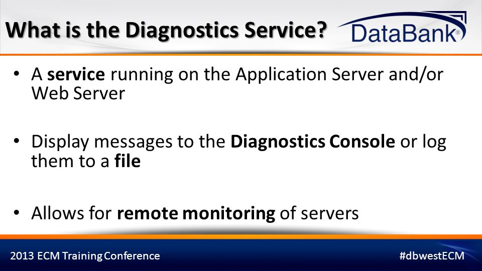 What is the Diagnostics Service