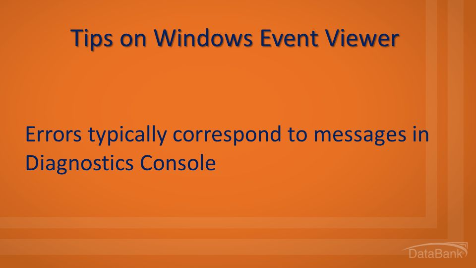Tips on Windows Event Viewer