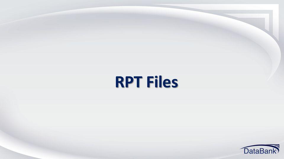 RPT Files