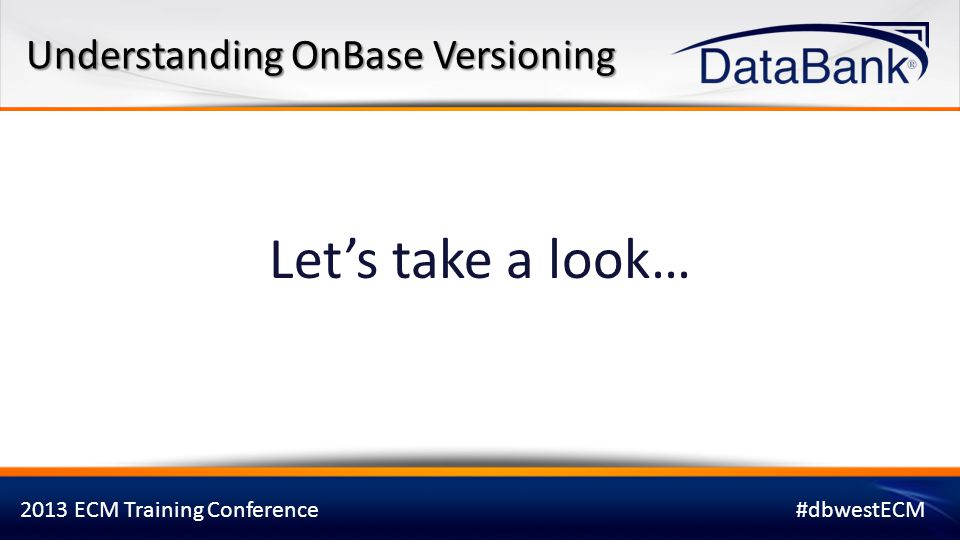 Understanding OnBase Versioning