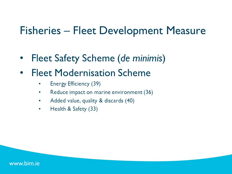 Fisheries – Fleet Development Measure