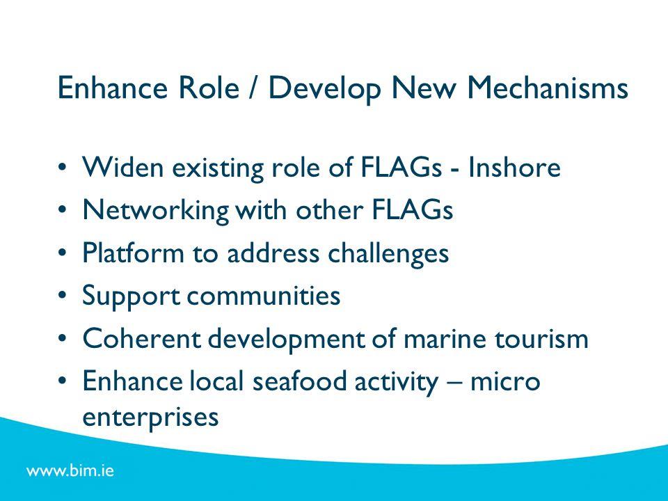Enhance Role / Develop New Mechanisms
