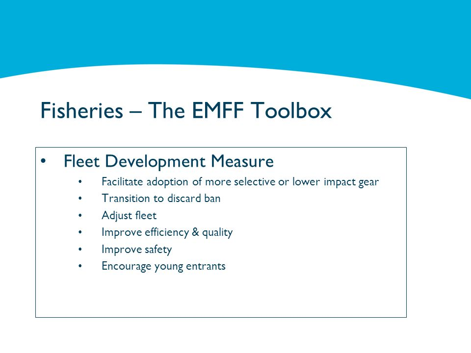 Fisheries – The EMFF Toolbox