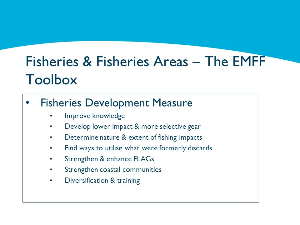 Fisheries & Fisheries Areas – The EMFF Toolbox