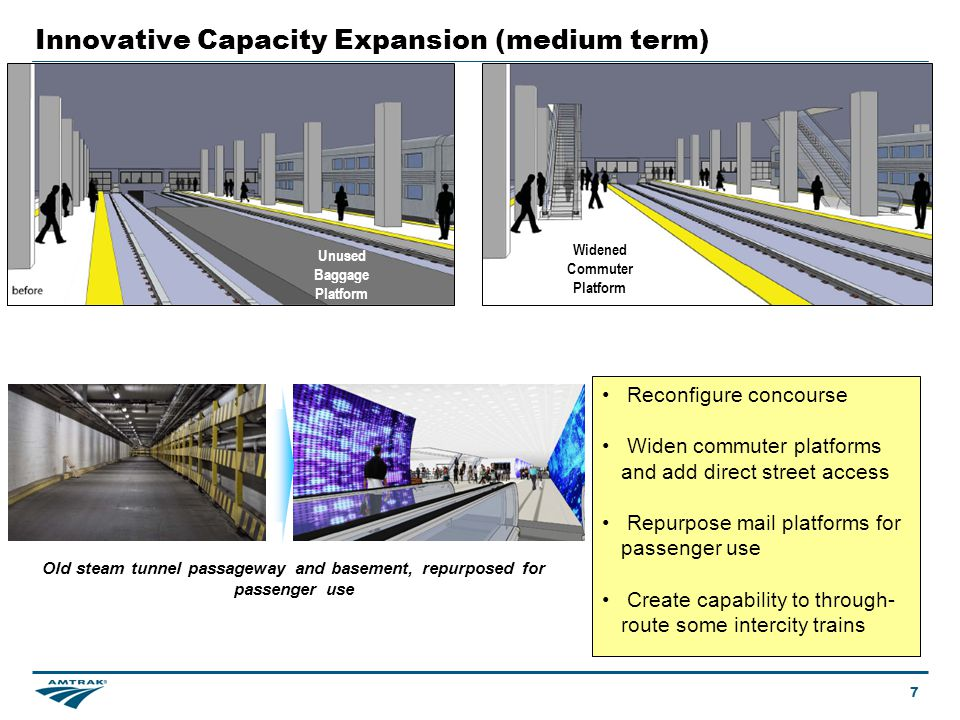 Create the capability to through-route some intercity trains