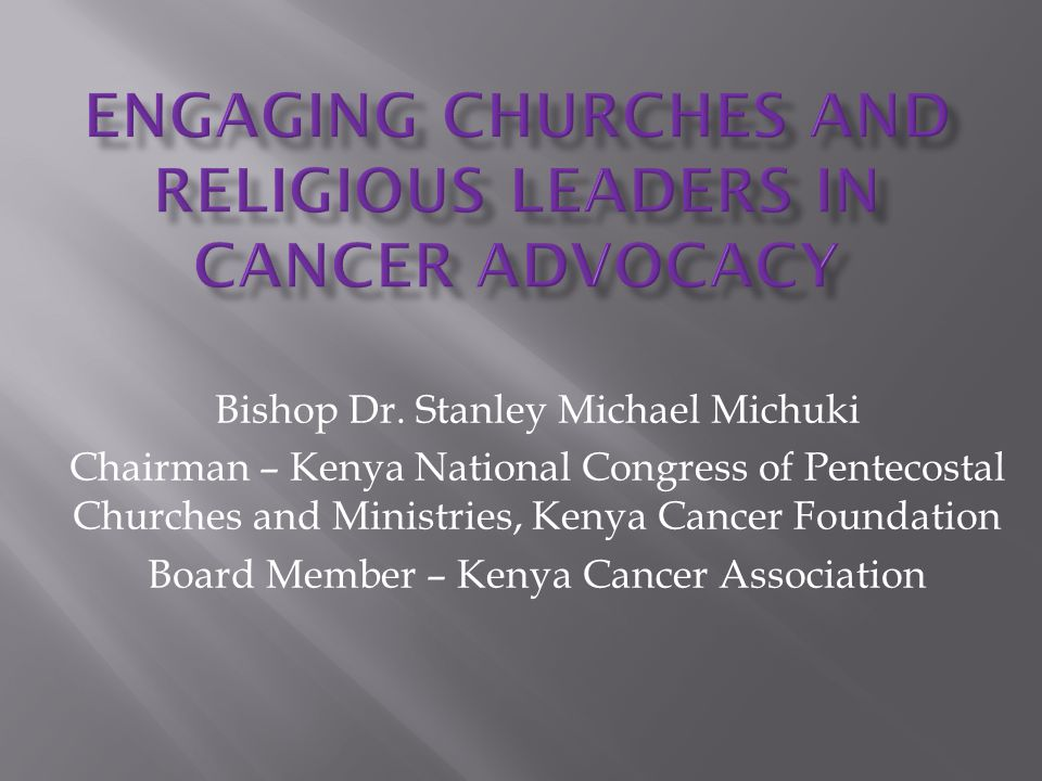 Engaging Churches and Religious Leaders in Cancer Advocacy