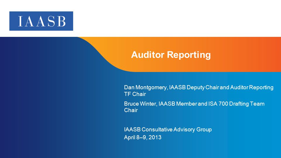 IAASB CAG Meeting, April 8-9, 2013 Supplement to Agenda B
