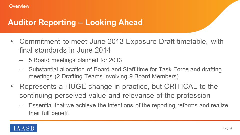 Auditor Reporting – Looking Ahead