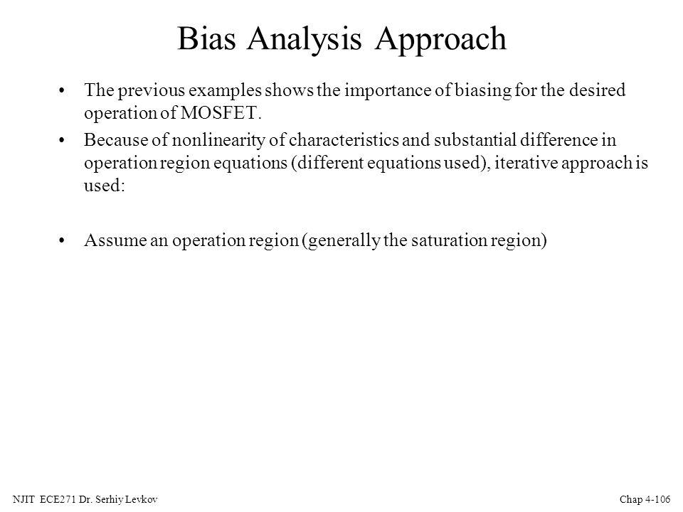 Bias Analysis Approach