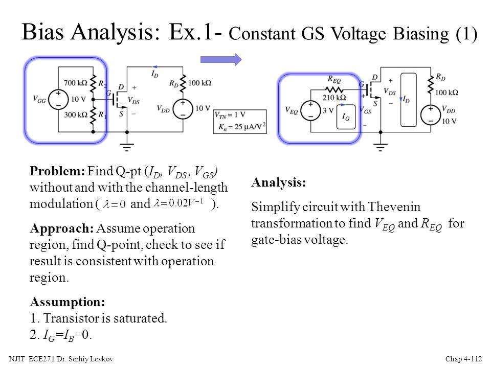 Bias Analysis: Ex.1- Constant GS Voltage Biasing (1)