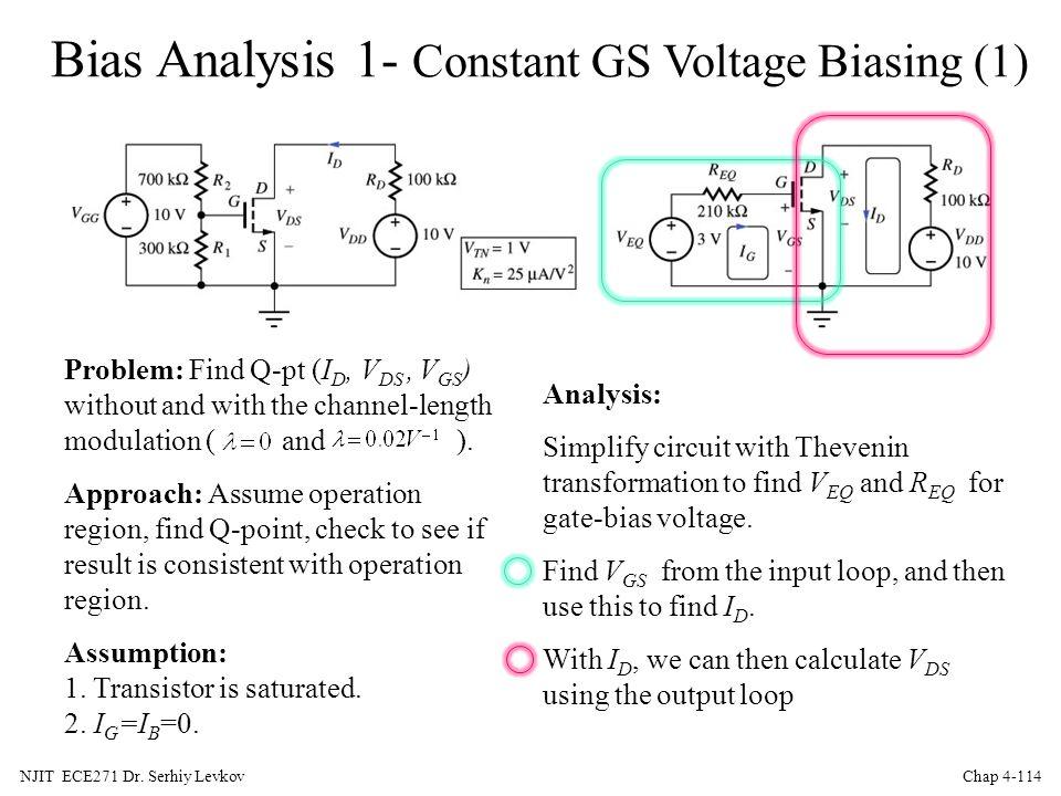 Bias Analysis 1- Constant GS Voltage Biasing (1)