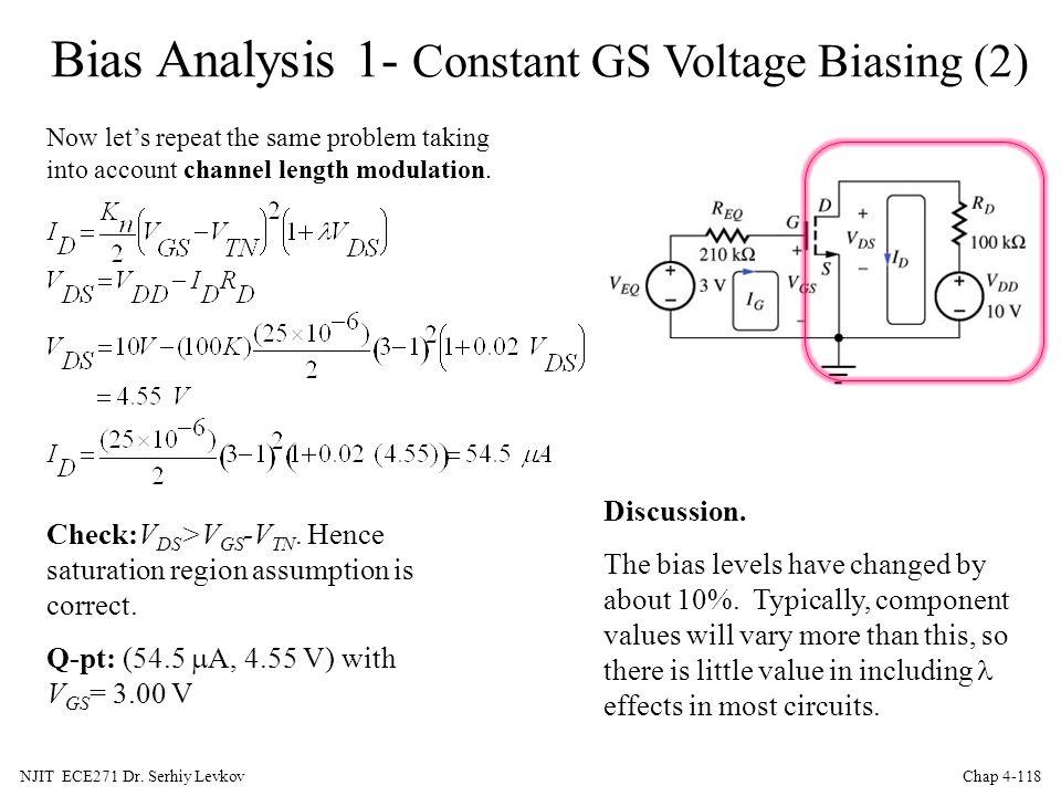 Bias Analysis 1- Constant GS Voltage Biasing (2)