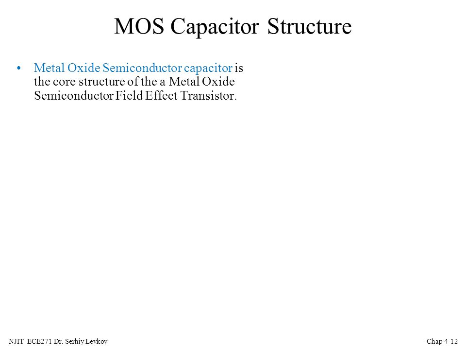 MOS Capacitor Structure