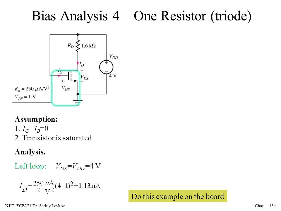 Bias Analysis 4 – One Resistor (triode)