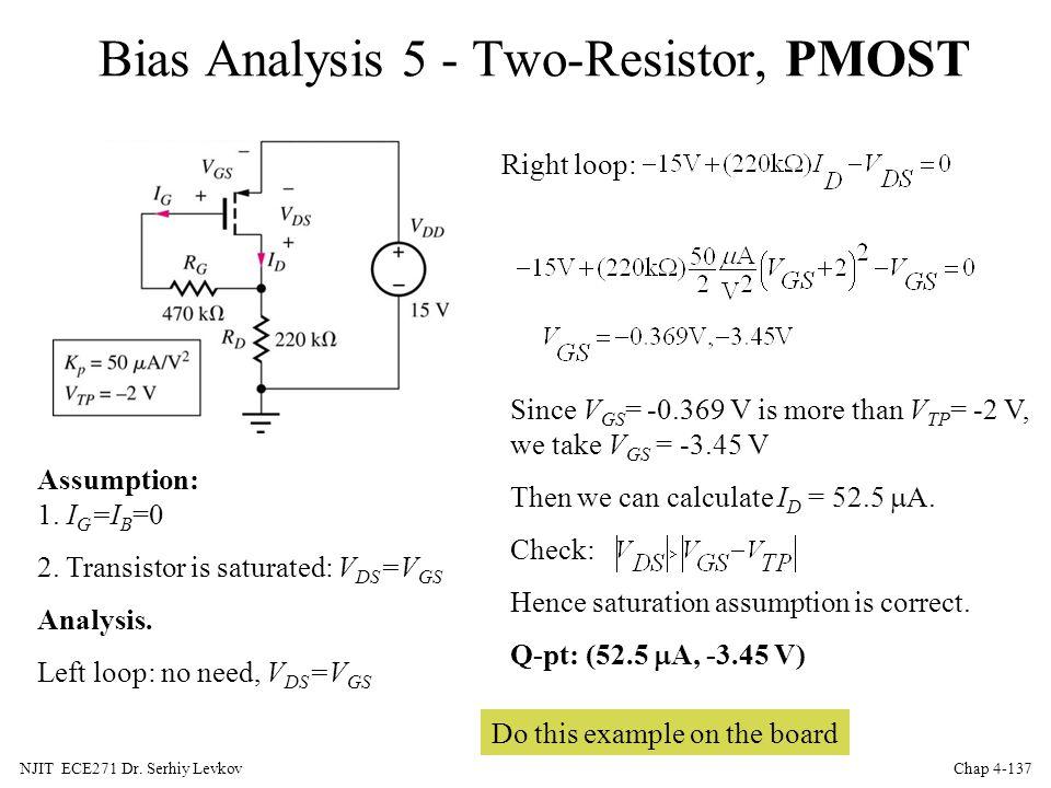 Bias Analysis 5 - Two-Resistor, PMOST