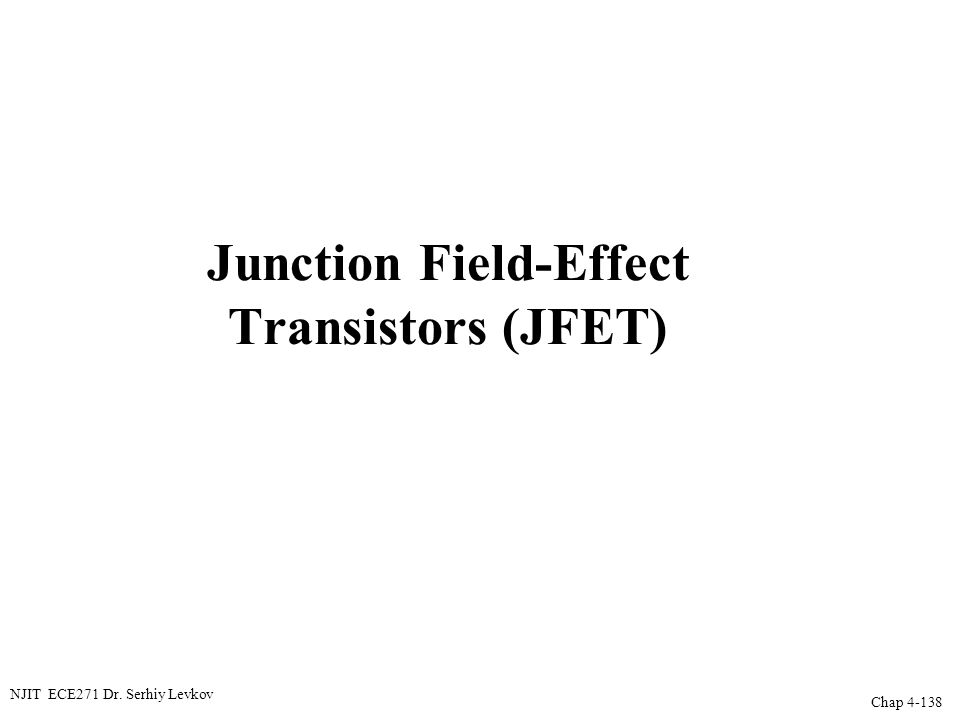 Junction Field-Effect Transistors (JFET)