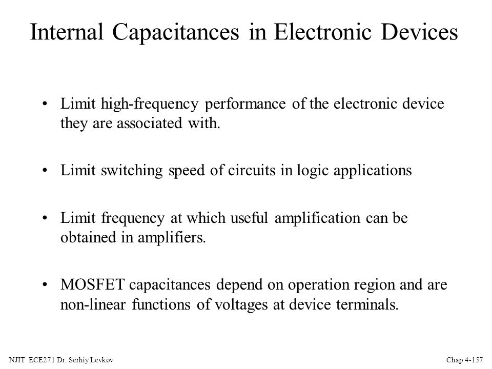 Internal Capacitances in Electronic Devices