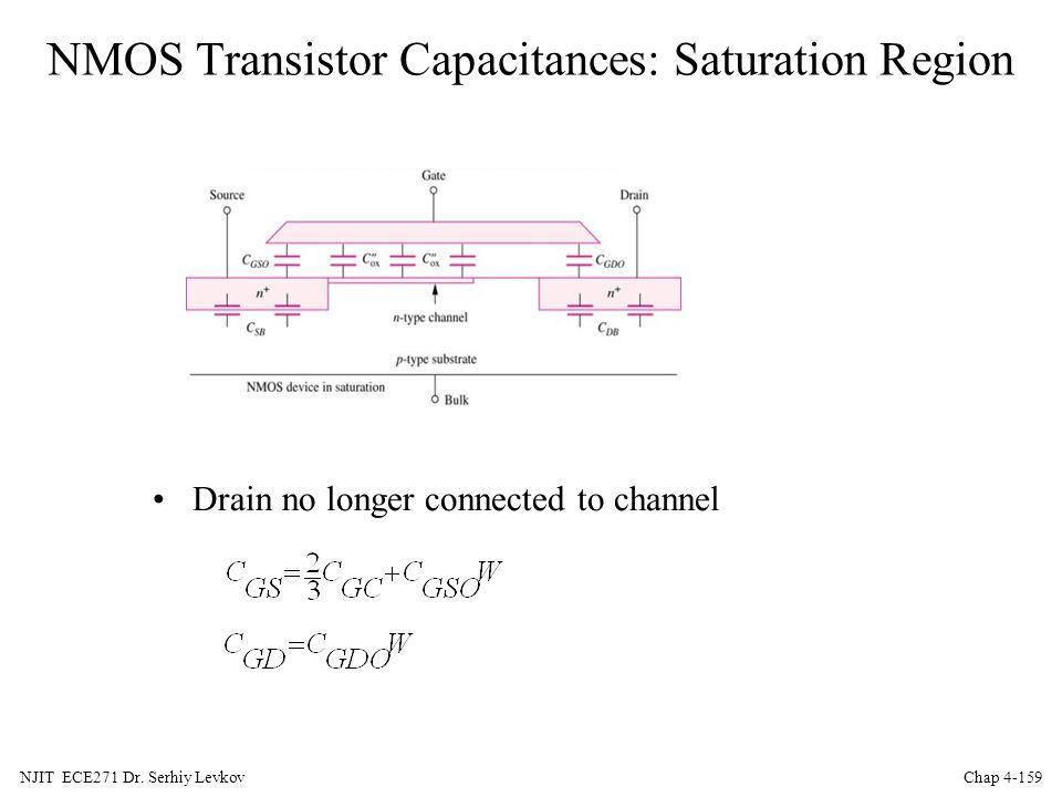 NMOS Transistor Capacitances: Saturation Region