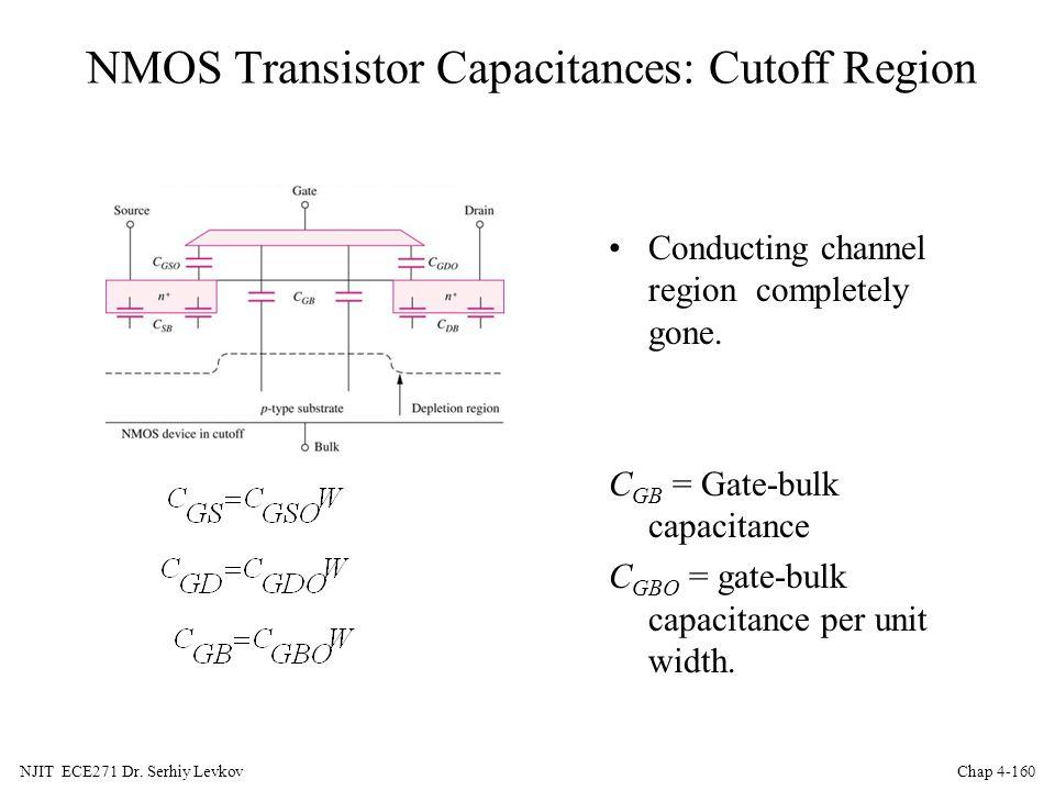NMOS Transistor Capacitances: Cutoff Region