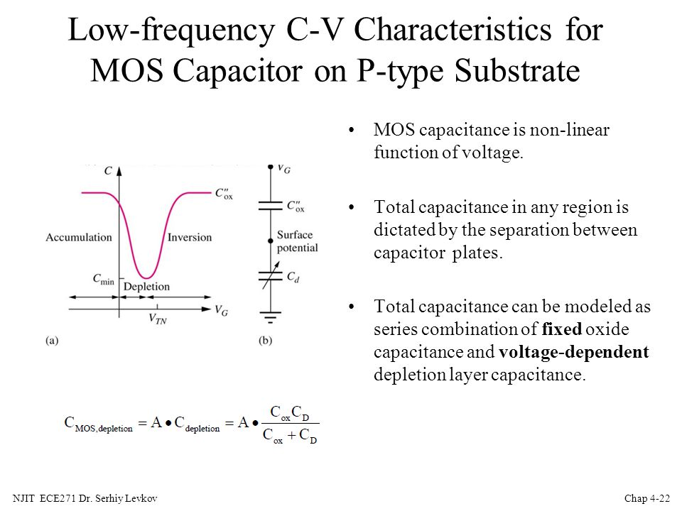 Low-frequency C-V Characteristics for MOS Capacitor on P-type Substrate