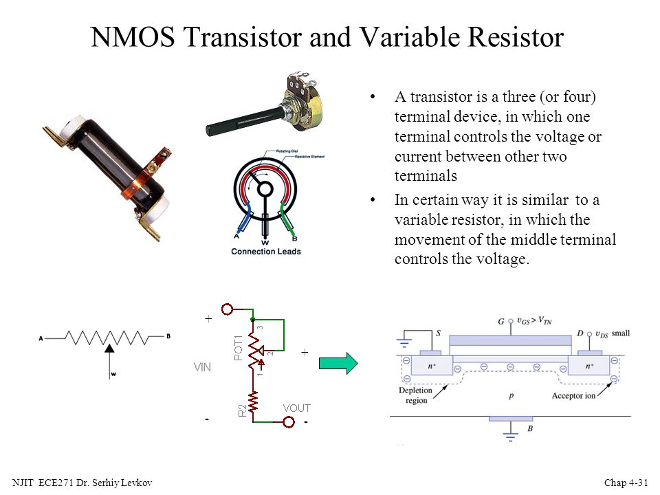 NMOS Transistor and Variable Resistor