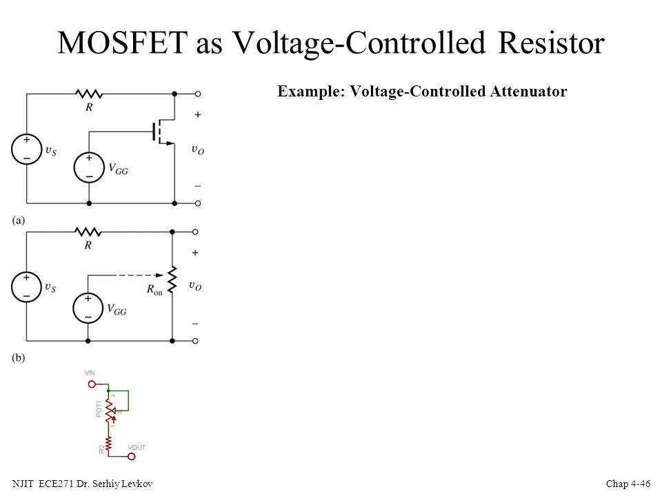 MOSFET as Voltage-Controlled Resistor