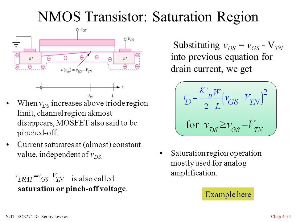 NMOS Transistor: Saturation Region