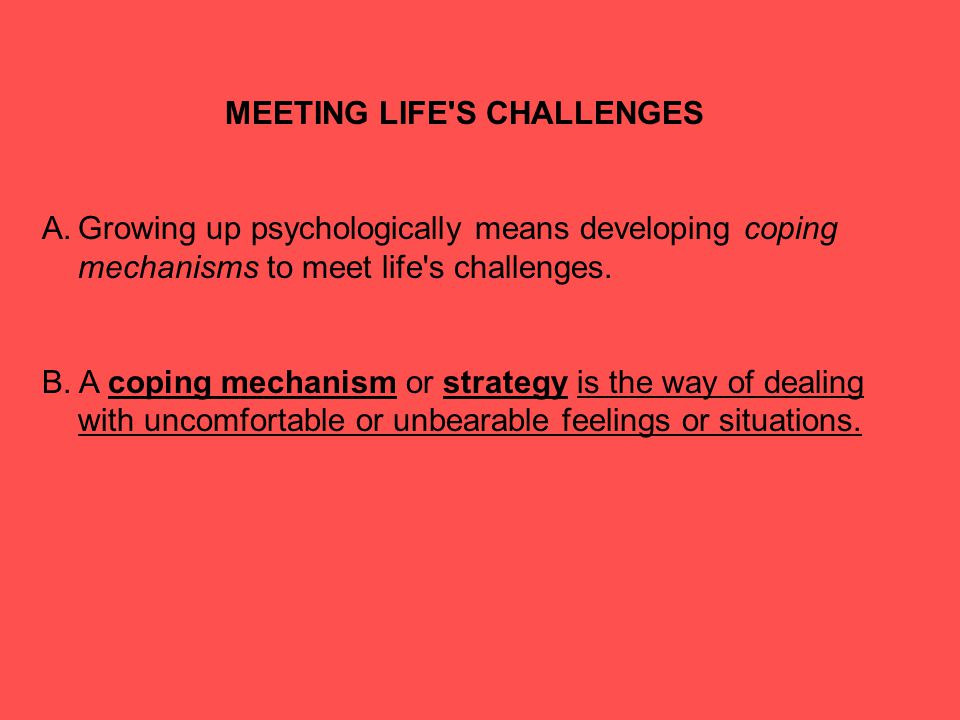 MEETING LIFE S CHALLENGES