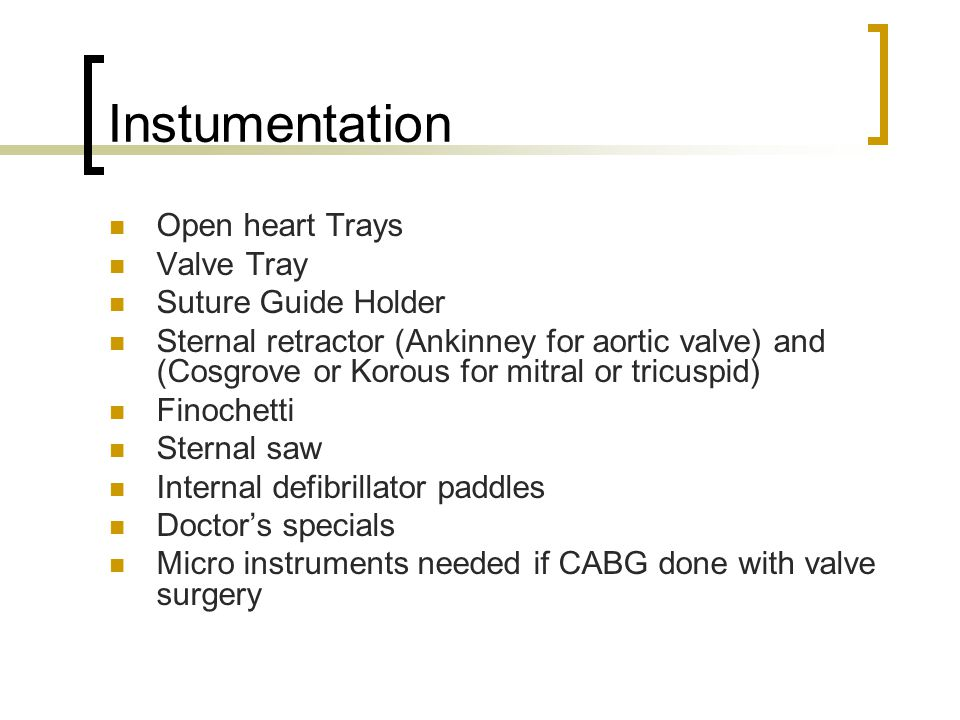Instumentation Open heart Trays Valve Tray Suture Guide Holder