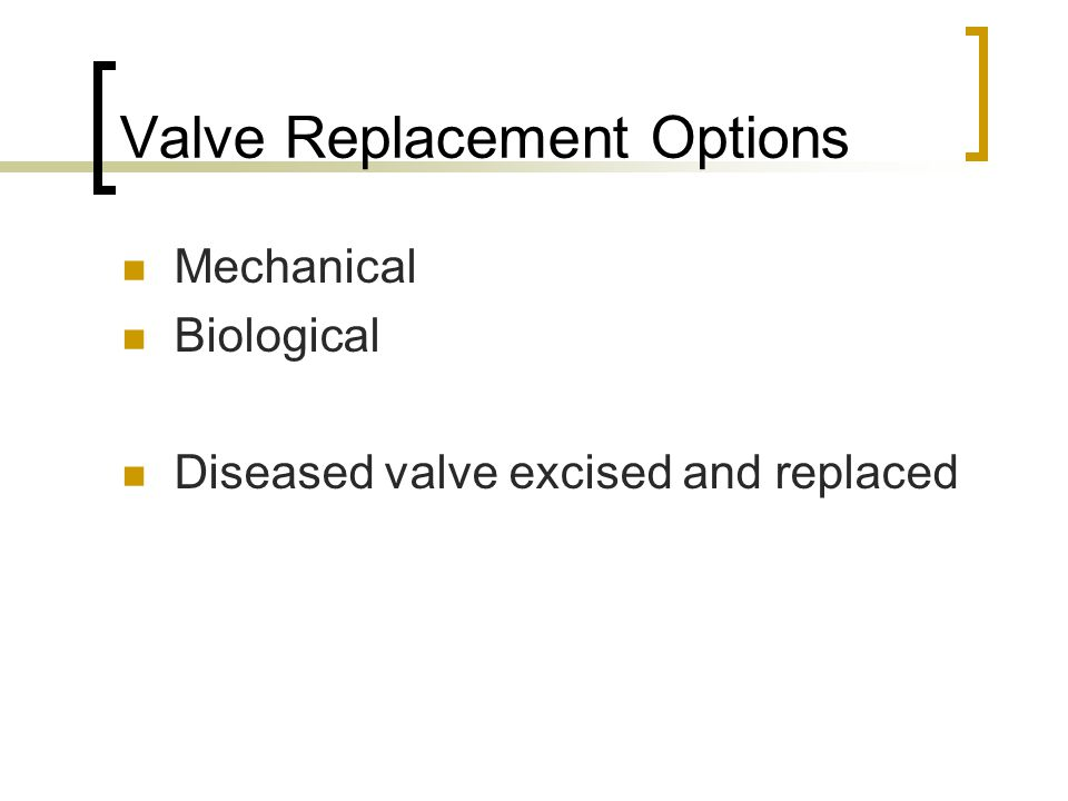 Valve Replacement Options