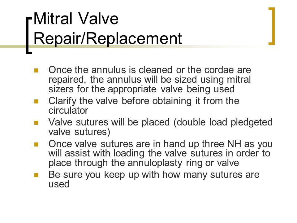 Mitral Valve Repair/Replacement