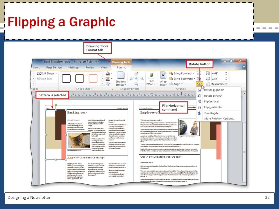 Flipping a Graphic Designing a Newsletter