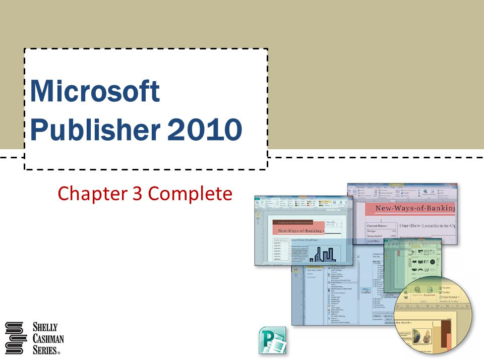 Microsoft Publisher 2010 Chapter 3 Complete