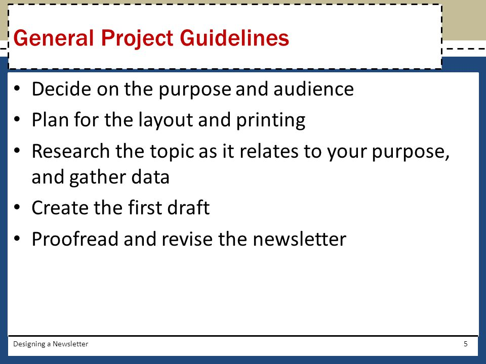 General Project Guidelines