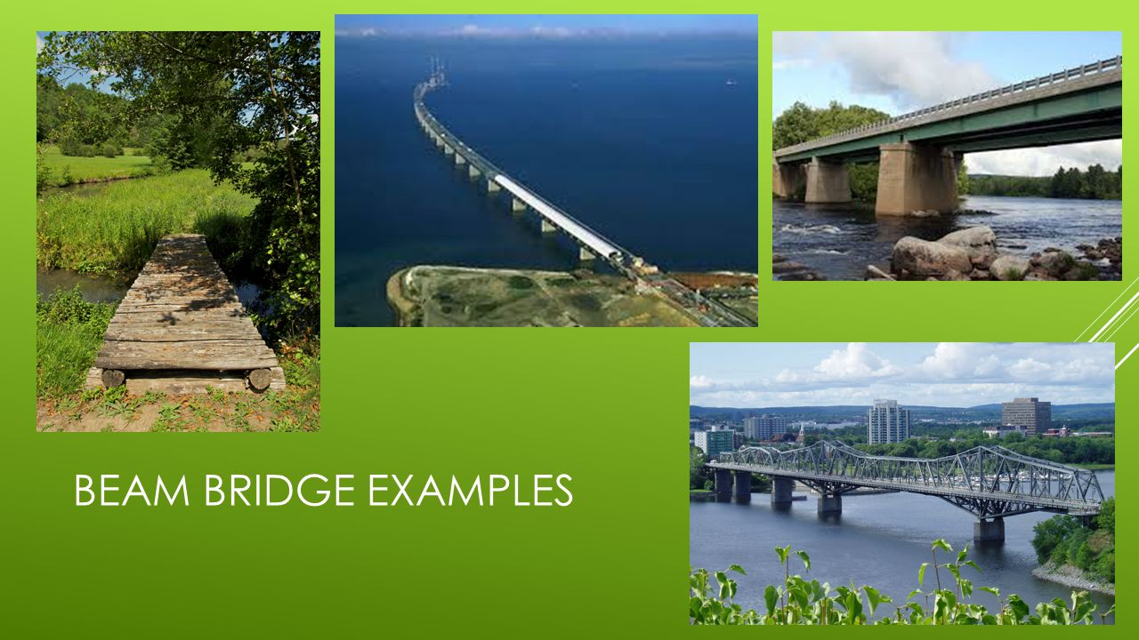 Beam bridge examples
