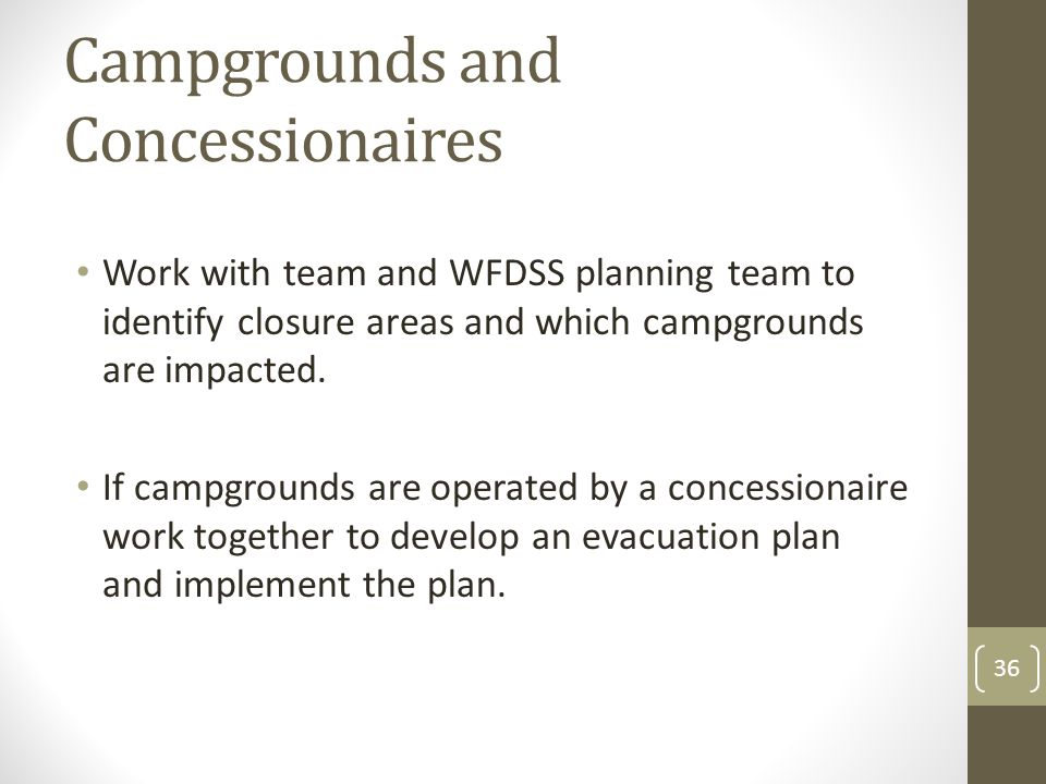Campgrounds and Concessionaires