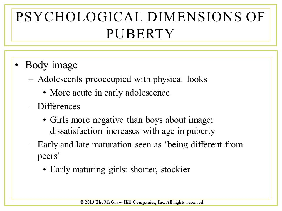Psychological Dimensions of Puberty