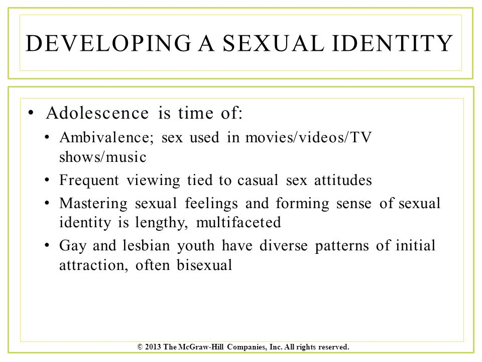 Developing A Sexual Identity