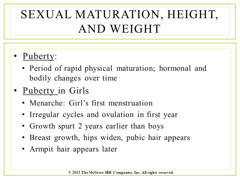 Sexual Maturation 67