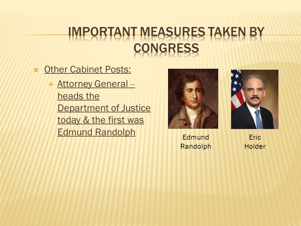 Important Measures taken by Congress
