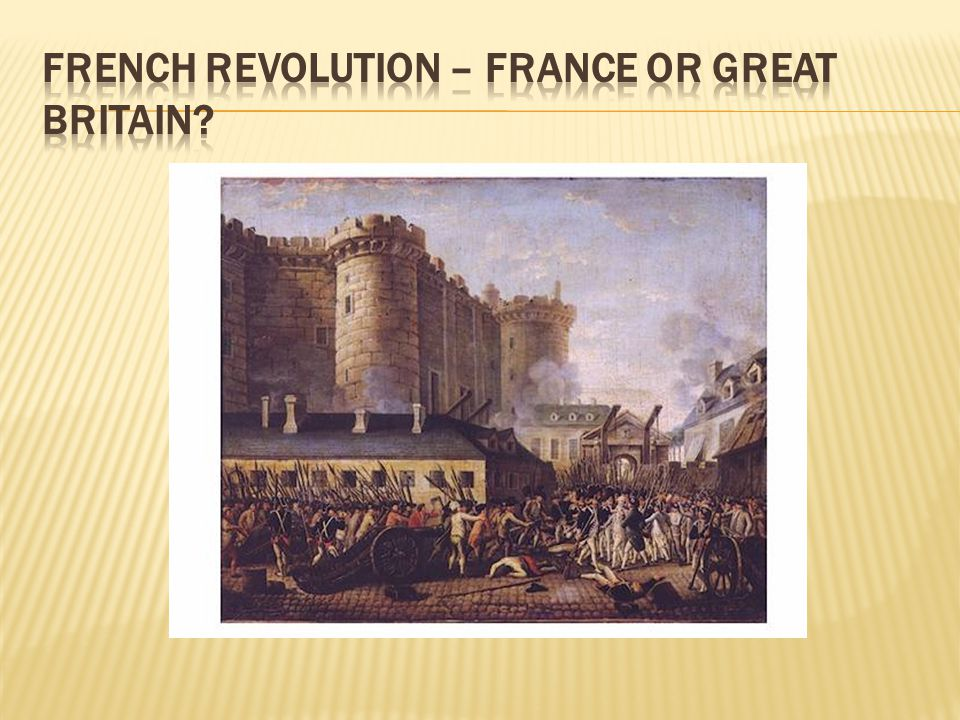 French Revolution – France or Great Britain