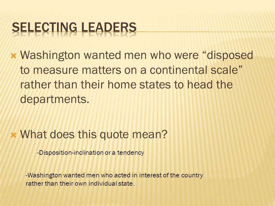 Selecting leaders