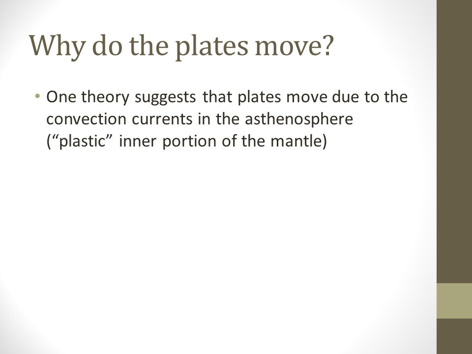 Why do the plates move